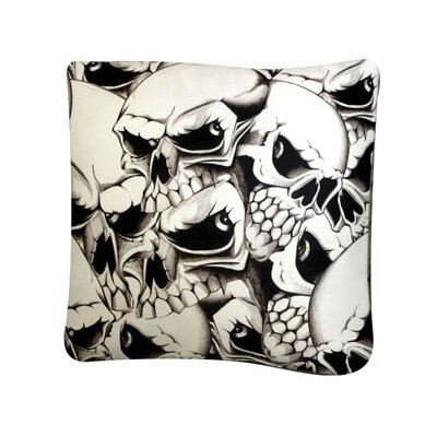 Rectangle Skulls Dog Pillow Size: Medium (30 L x 24 W)