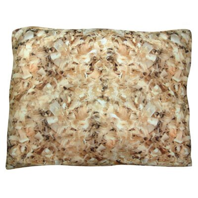 Rectangle Shavings Dog Pillow Size: Medium (30 L x 24 W)