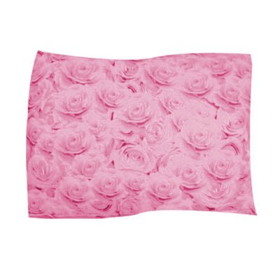 Pink Rose Pet Throw Size: Large