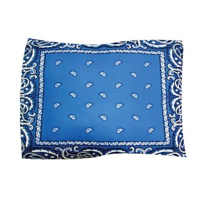 Bandana Pet Throw Size: Large, Color: Blue