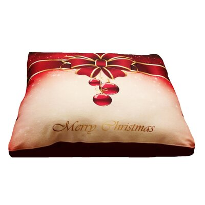 Christmas Present Dog Pillow with Removable Cover Size: Large (36 L x 30 W)