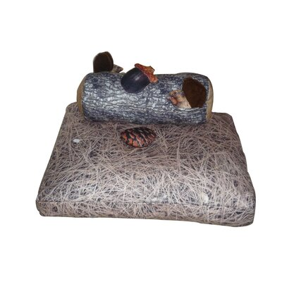 Squirrel Dog Pillow and Toys Set Size: Small (20 L x 20 W)