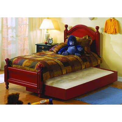 Monterey Panel Bed Size: Twin, Finish: Red Spice