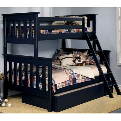 Monterey Twin over Full Bunk Bed Bed Frame Color: Distressed White