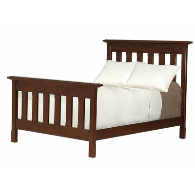 Slatted Queen Panel Bed Color: Walnut