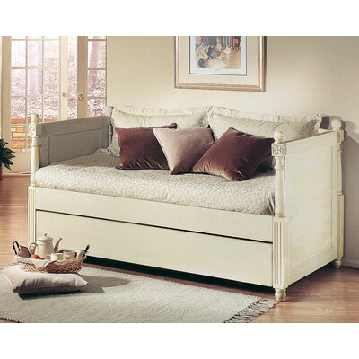 Monterey French Daybed with Box Trundle Finish: Distressed White