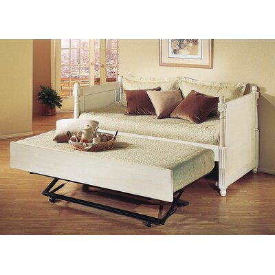 Monterey French Daybed with Pop-Up Trundle Finish: Distressed White