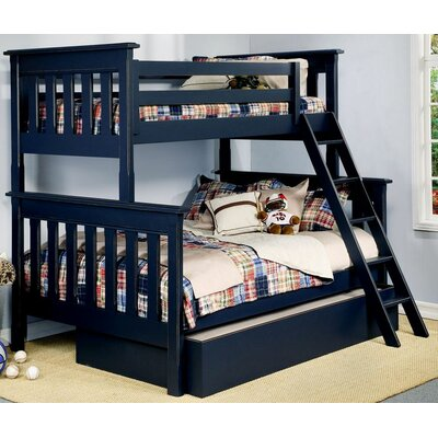 Monterey Twin over Full Bunk Bed Bed Frame Color: Denim Blue