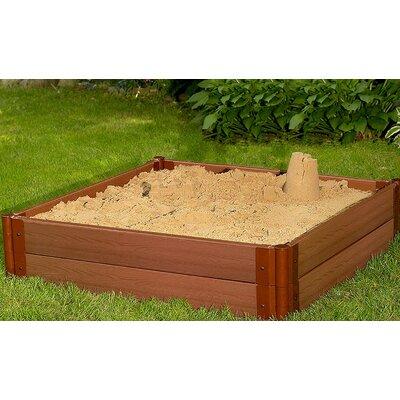 One Inch Series 4' W Square Sandbox