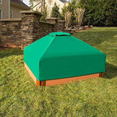 One Inch Series 4 ft. Square Sandbox with Cover