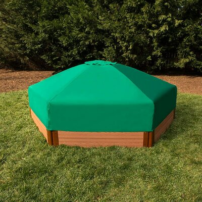 One Inch Series 7 ft. Hexagonal Sandbox with Cover