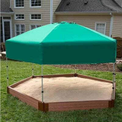 Two Inch Series 8' W Hexagon Sandbox with Cover