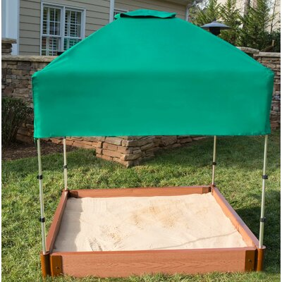 Two Inch Series Composite 4 ft. W Square Sandbox with Cover
