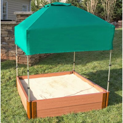 Can-it-be Telescoping 4 ft. W Square Sandbox with Cover