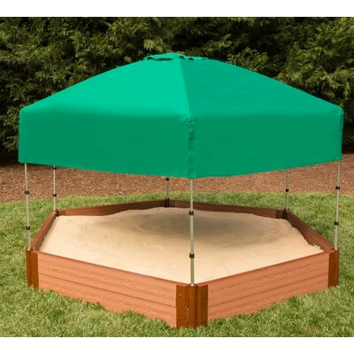 Two Inch Series 8' W Hexagon Sandbox with Canopy/Cover