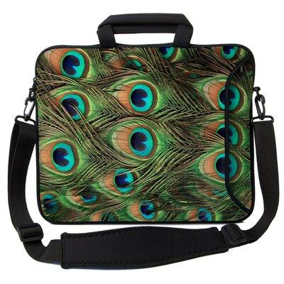 Executive Sleeves Peacock PC Laptop Bag Size: 14