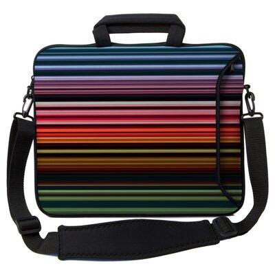 Designer Sleeves Executive Sleeves Retro Stripes PC Laptop Bag - Size: 14