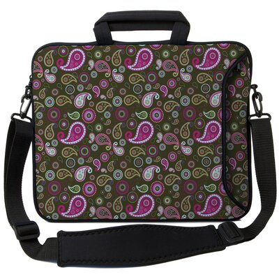 Executive Sleeves Paisley 2 PC Laptop Bag Size: 15