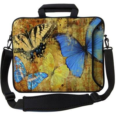 Executive Sleeves Butterflies 2 PC Laptop Bag Size: 14