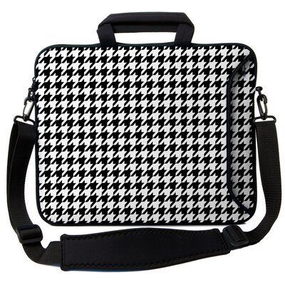 Executive Sleeves Houndstooth PC Laptop Bag Size: 17