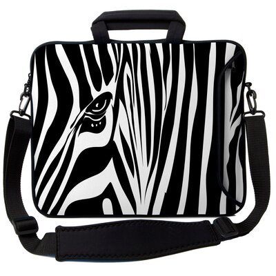 Executive Sleeves Zebra Eye PC Laptop Bag Size: 13