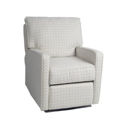 Mesa Swivel Recliner Fabric: Cecilia, Piping: Camelot White