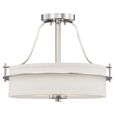 Daryl 2-Light Semi Flush Mount Color: Polished Nickel