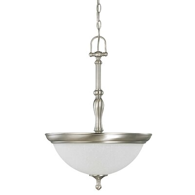 Bella 3-Light Inverted Pendant Finish: Brushed Nickel