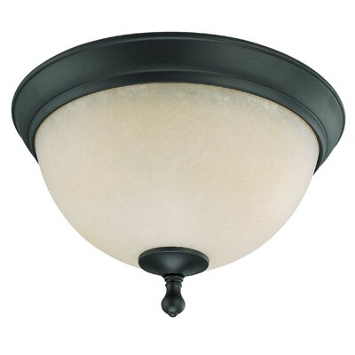 Bella Flush Mount Size: 8.5 H x 13.5 W