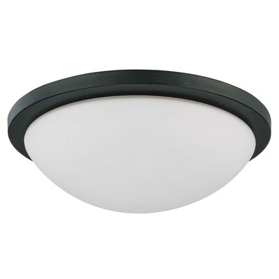Karla Contemporary Energy Star Flush Mount Size: 5 H x 17 W
