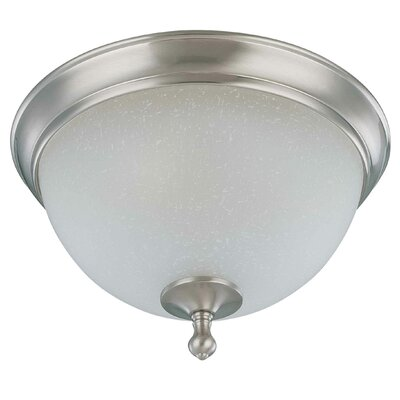 Bella 2-Light Flush Mount Size: 8.5 H x 15.75 W