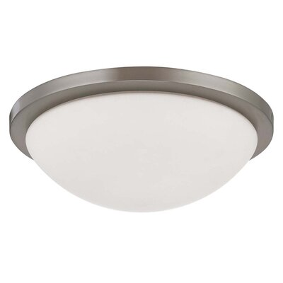 Karla Contemporary Flush Mount Size: 4 H x 13.375 W