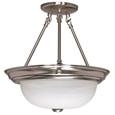 Semi Flush Mount Size / Energy Star: 14 H x 13.25 W / No
