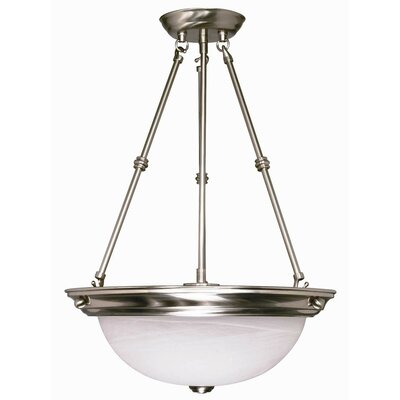 Cafferata 3-Light Inverted Pendant Size / Energy Star: 23 H x 15 W / No