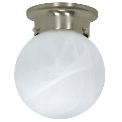 1-Light Flush Mount in Brushed Nickel Energy Star: Yes
