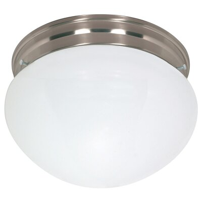 Energy Star 2-Light Flush Mount Size: 6.5 H x 12 W