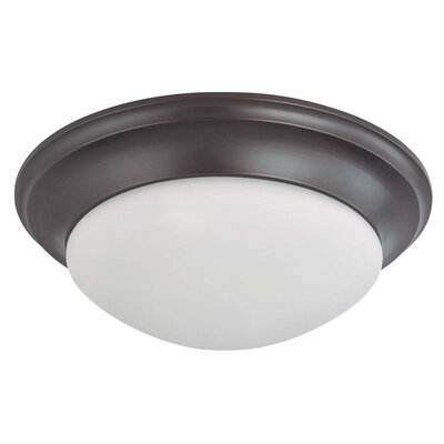 Transitional 2-Light Flush Mount Energy Star: No