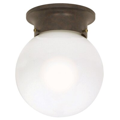 Coffield 7.25 1-Light Ball Semi Flush Mount Finish: Old Bronze, Energy Star: No