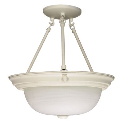 Semi Flush Mount Size: 14 H x 13.25 W