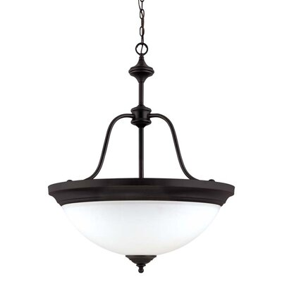 Glenwoord 4-Light Large Inverted Pendant Energy Star: No, Finish: Sudbury Bronze
