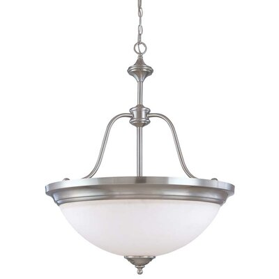 Glenwoord 4-Light Large Inverted Pendant Energy Star: No, Finish: Brushed Nickel