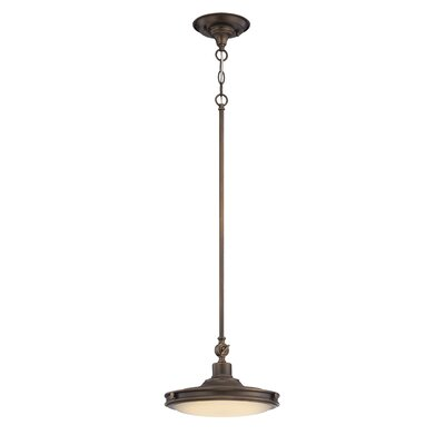Houston 1-Light Pendant Finish: Antique Brass
