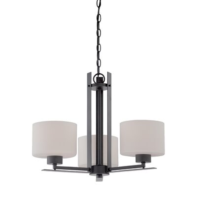 Rickmansworth 3-Light Drum Chandelier Finish: Aged Bronze