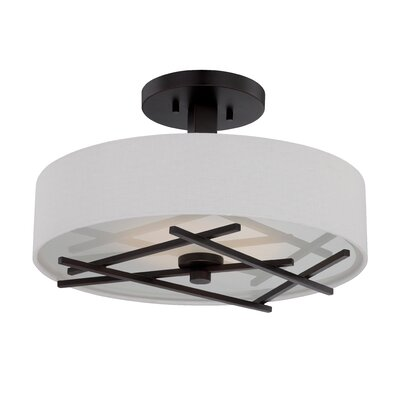 Ahadpour 1-Light Semi Flush Mount