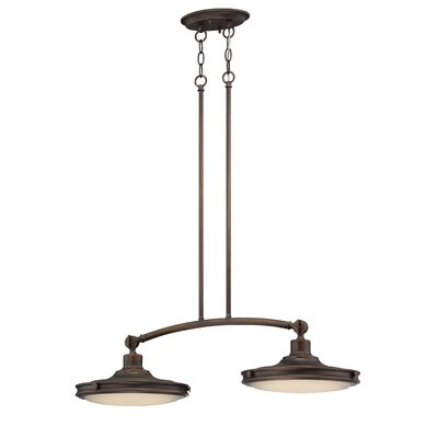 Houston 2-Light Kitchen Island Pendant Finish: Antique Brass