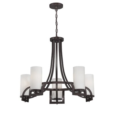 Algol 5-Light Shaded Chandelier