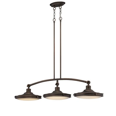 Houston 3-Light Kitchen Island Pendant Finish: Antique Brass