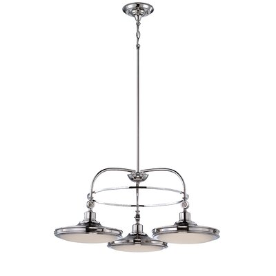 Houston 3-Light Shaded Chandelier Finish: Polished Nickel