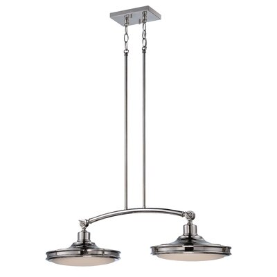 Houston 2-Light Kitchen Island Pendant Finish: Polished Nickel