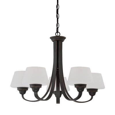 Ludlow 5-Light Shaded Chandelier Finish: Russet Bronze